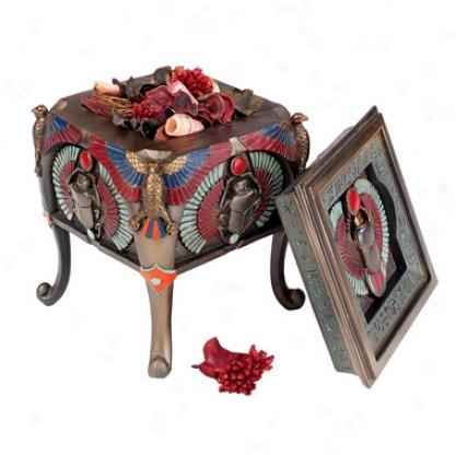 Sacred Scarab Betele Egyptian Offering Box