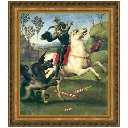 Saint George Fighting The Dragon, 1505, Canvas Replica Painting: Small