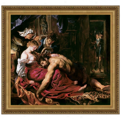 Samson And Delilah, 1610: Canvas Replica Painting: Small