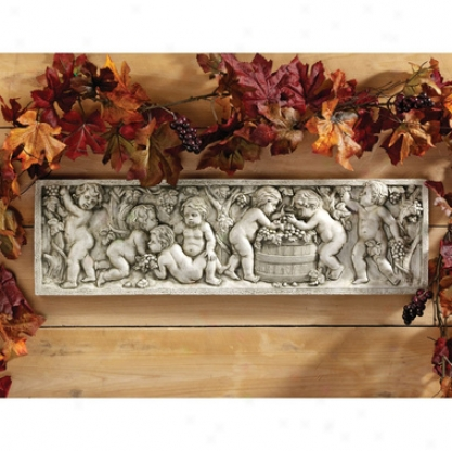 September Wine Harvest Wall Sculpture