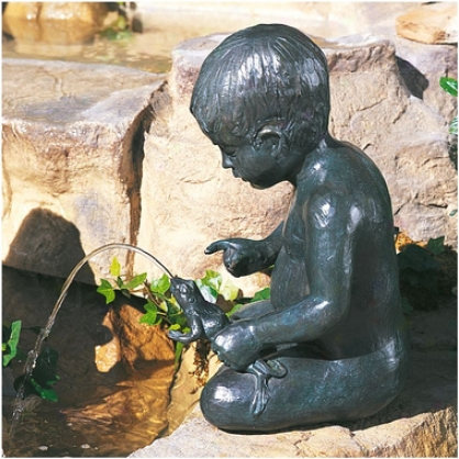 Simon's Squeeze Wealthy Bronze Garden Sculpture