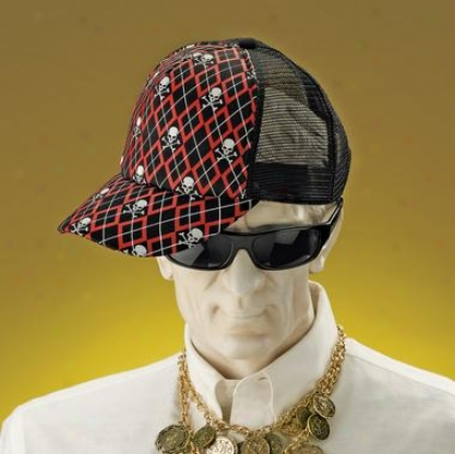 Skull Cover Brimmed Cap