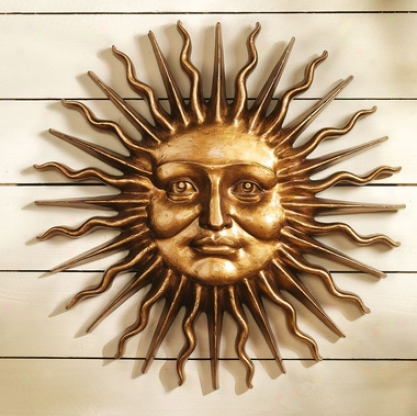 Sloane Square: Greenman Sun Wall Sculpture