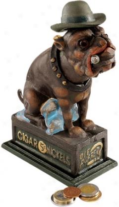 Ear, The English Bulldog Authentic Foundry Iron Bank