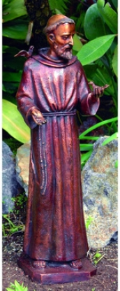 St. Francis, Patron Of Nature Solid Bronze Garden Sculpture