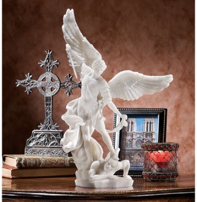 St. Michael The Archangel Statue Collection: Marble Resin Statue