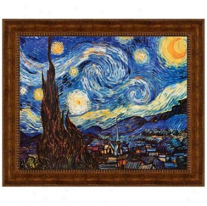 Starry Nighf 1889 Canvas Replica Painting: Small