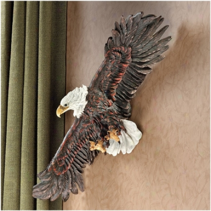 Strength Of The Skies Eagle Wall Sculpture
