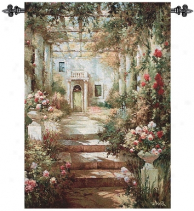Summer Pergola Grand Wall Tapestry