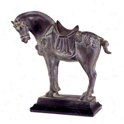 Tang Dynasty Steed Quality Ruined Wax Bronze Statue