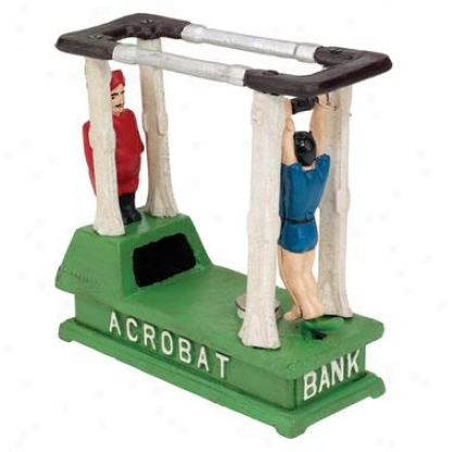 The Acrobat Collectors' Die-cast Iron Mehcanical Coin Bank