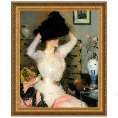 The Black Cardinal's office (lady Trying On A Hat), 1904 Canvas Replica Painting: Small