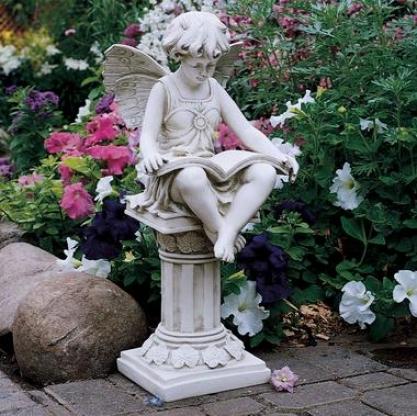 The British Reading Fairy Garden Statue