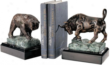 The Bull And Bear Of Wall Street Sculptures