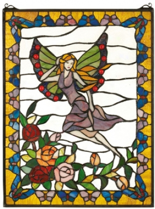 The Butterfly Fairy Stained Glass Window