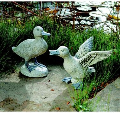 The Ducks Of Waylen Pond Statues: Set Of Two