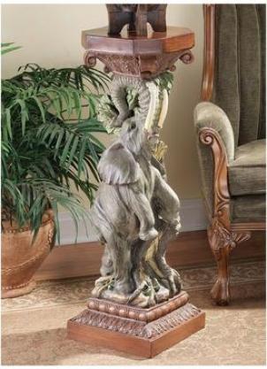 The Elephant's Triumph Sculptural Pedestal