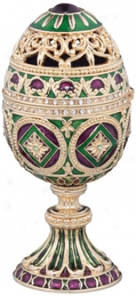 The Emerald Collection Faberge-styl eEnameled Egg: Minishka