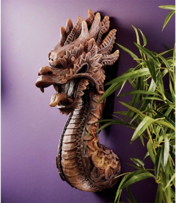 The Fire Dragon Wall Sculpture