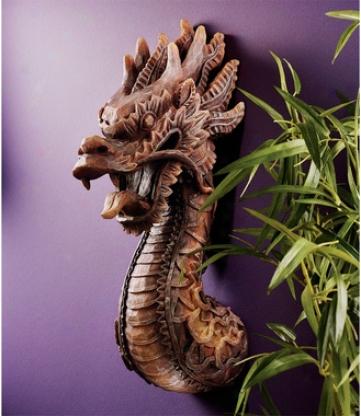The Fire Dragon Wall Sculpture