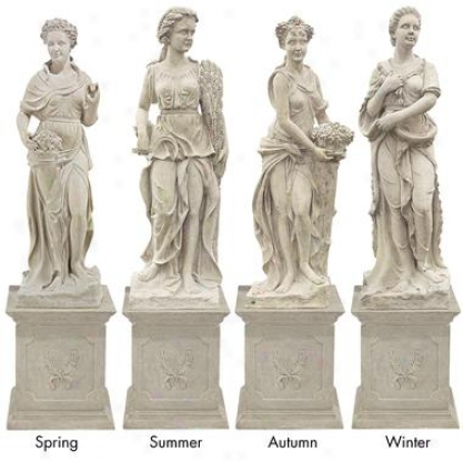 The Four Goddesses Of The Seasons Statue: All Four Seasons (statues With Plinths)