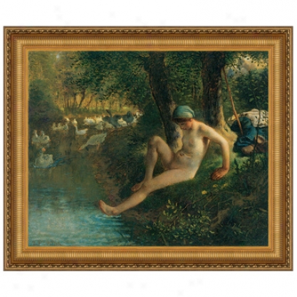The Goose Gir,l 1863, Canvas Replica Painting: Small