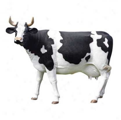 The Grand-scale Wildlife Animal Collection: Holsteln Cow Statue