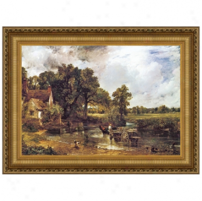 The Hay Wain, 1821, Canvas Replica Painting: Small