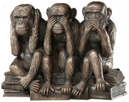 The Hear-no, See-no, Speak-no Evil Monkeys Statue