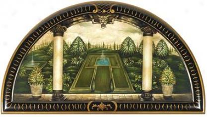 The Italian Garden Trompe Loei Wall Lunette
