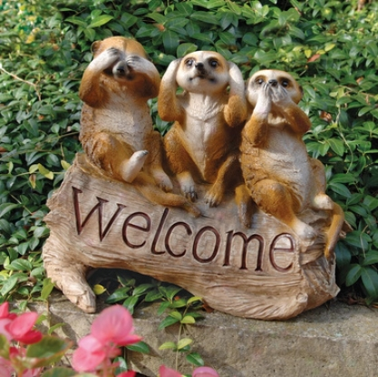 The Meerkat Menagerie Welcome Engrave