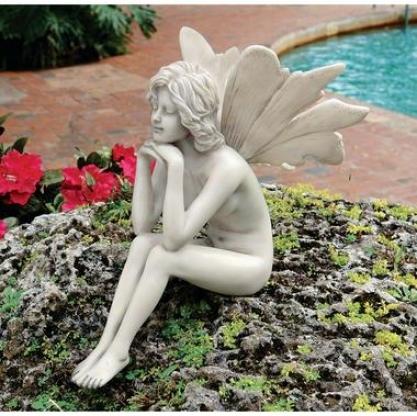 The Secret Garden Fairies: Pondering Fairy Statue