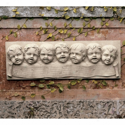 The Seven Melodious Cherbs Of Florence Wall Sculpture
