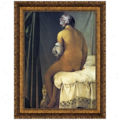 The Valpincon Bather, 1808, Canvas Replica Painting: Small