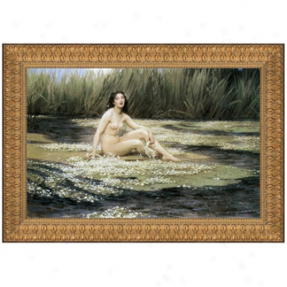 The Water Nymph, 1908, Canvas Replica Painting: Small