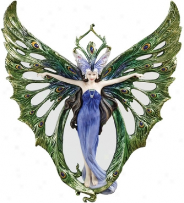 The Winged Peacock Princess Wall Sculpture