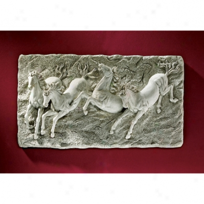 Thunder On The Plains Wild Horse Wall Sculpture