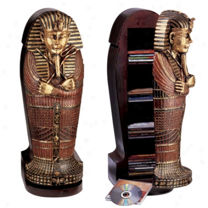 Tutankhamen Sarcophgus Cd Cabinet