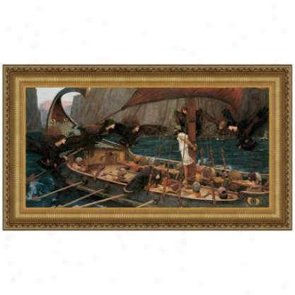 Ulysses And The Sirens, 1891, Canvas Autograph copy Painting: Small