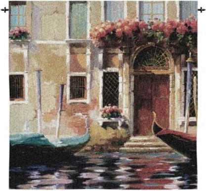 Venetian Gondolas Ii View Wall Tapestry