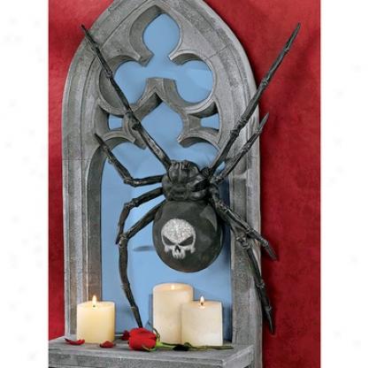 Venomous Vengeance lBack Widow Spider Wall Sculpture