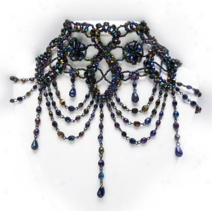 Victorian Lace Necklace And Earring Ensemble