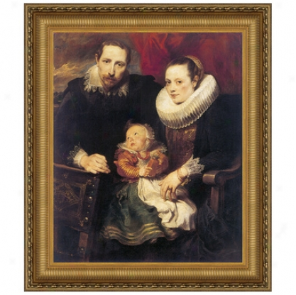 Wildens Family Portrait, 1621, Canvas Replica Painting: Small