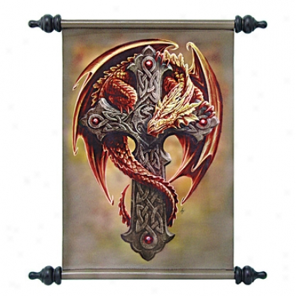 Woodland Guardian Wall Scroll B yArtist Anne Stokes