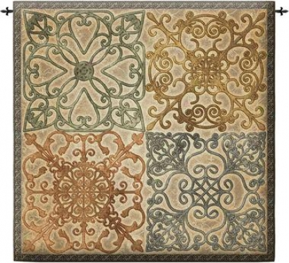 Wrought Iron Elegance Wall Tapestry: Medium