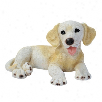Golden Labrador Puppy Dog Statue