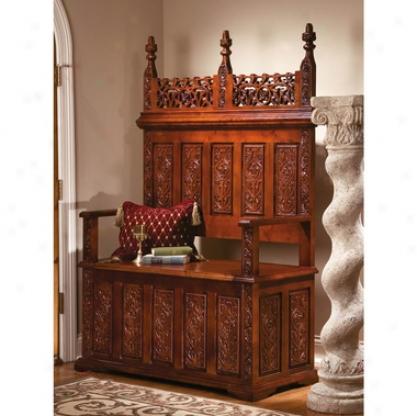 York Monastery Solid Hardwood Gothic Bench