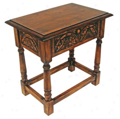 Yorkshier Hinged Lid Gothic Stool And Accent Table
