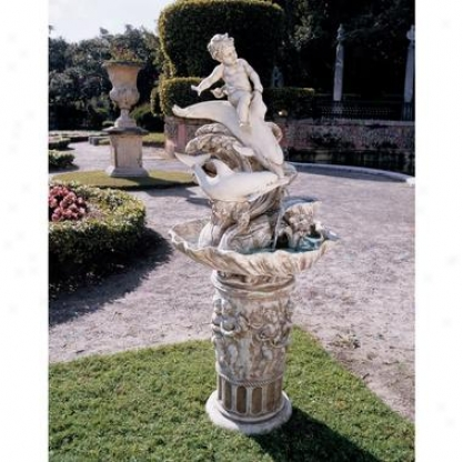 Young Poseidon Sculptural Fountain