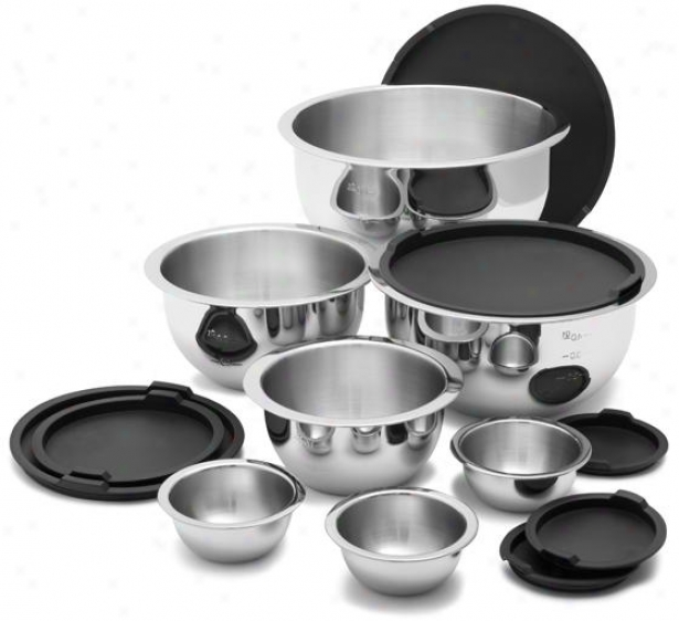 14-piece Stainless Steel Mixing Bowls Regulate - 14 Piece Set, Silver
